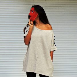Pompom-Pow: boxy dress